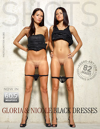 Gloria and Nicole black dresses