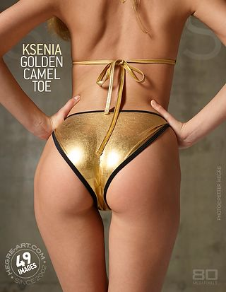 Ksenia golden camel toe