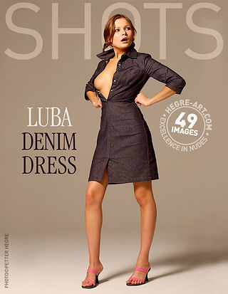 Luba in denim dress