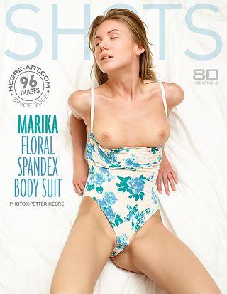 Marika floral spandex bodysuit
