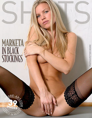 Marketa in black stockings
