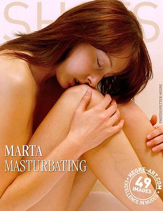 Marta masturbándose