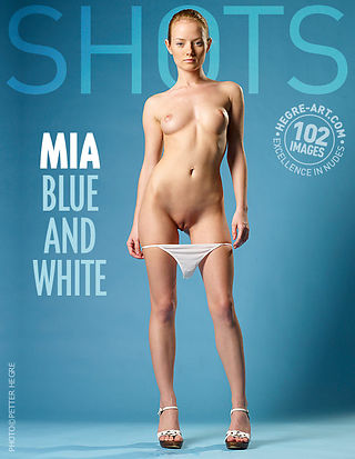 Mia blue and white