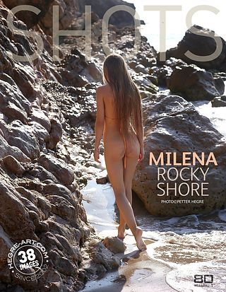 Milena felsige Küste