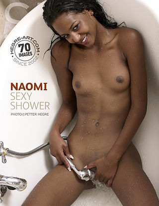 Naomi sexy shower