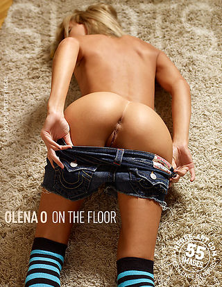 Olena O on the floor