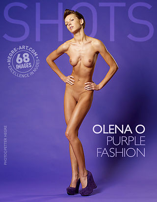Olena O purple fashion