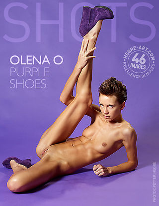Olena O purple shoes