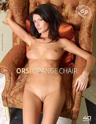 Orsi orange chair
