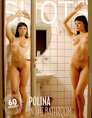 Polina in the bathroom