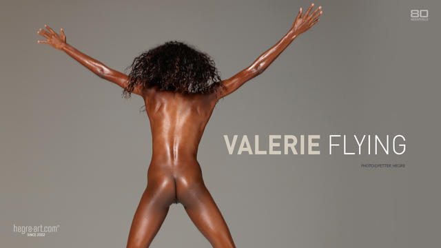 Valerie flying