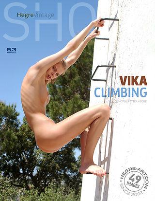 Vika climbing
