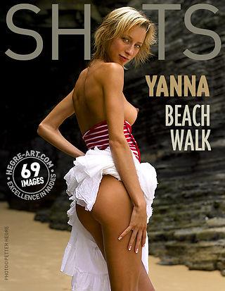 イアンナ ビーチを散歩