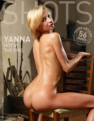 Yanna hot by the fire
