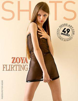 Zoya coqueteando