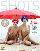 Coxy and Zaika red and blue by Alya