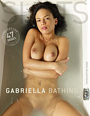 Gabriella bathing