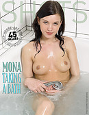 Mona taking a bath