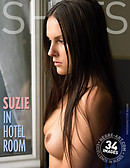 Suzie in hotel room