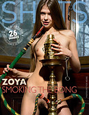 Zoya smoking the bong