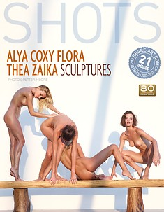 アリア、コクシー、フロア、シーア、ザイカ 彫刻