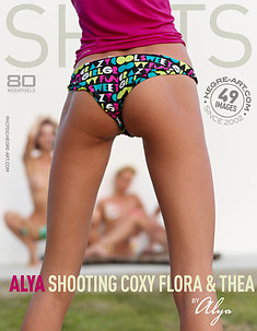 Alya shooting Coxy Flora and Thea