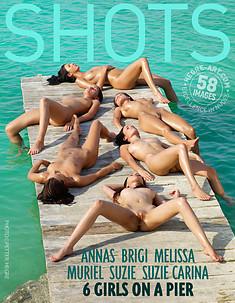 Anna S Brigi Melissa Muriel Suzie Suzie Carina 6 girls on a pier