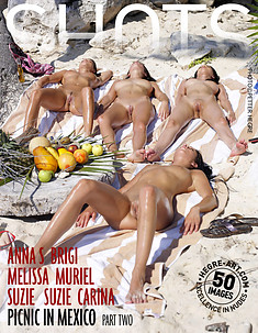 Anna S Brigi Melissa Muriel Suzie Suzie Carina pique nique au Mexique partie 2
