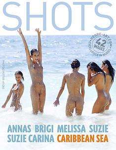 Anna S Brigi Melissa Suzie Suzie Carina Caribbean Sea
