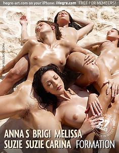 Anna S Brigi Melissa Suzie Suzie Carina Formation
