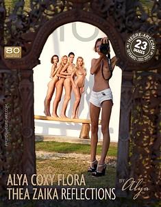 Coxy Flora Thea Zaika reflections by Alya