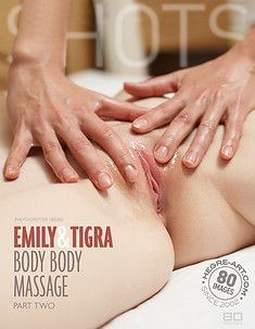 Emily y Tigra masaje de cuerpo a cuerpo parte 2
