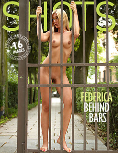 Federica behind bars