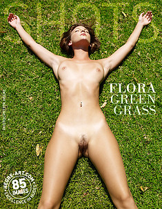 Flora césped verde