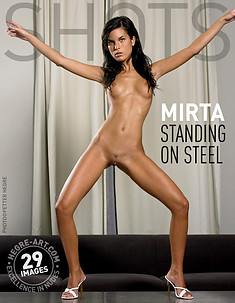 Mirta standing on steel