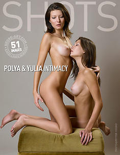 Polya and Yulia intimacy