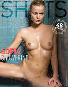 Sofia showering