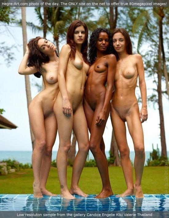 Hegre Art Candice, Kiki, Engelie & Valerie