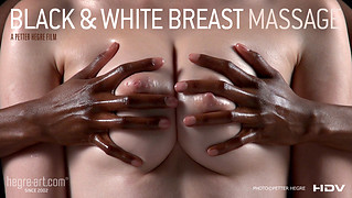 Black And White Breast Massage