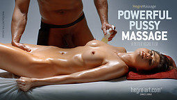 Massage chatte puissante