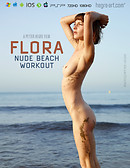 Flora Nude Beach Workout
