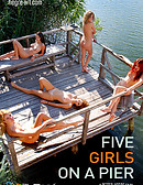 Five Girls on a Pier