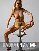 Radka on a chair
