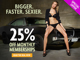 25% of monthly memberships! Don't miss this one…